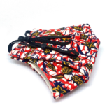 Johari Africa Red, Navy and Yellow Patterned Face Mask