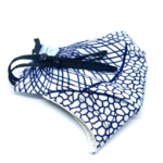 Johari Africa White and Blue Patterned Face Mask